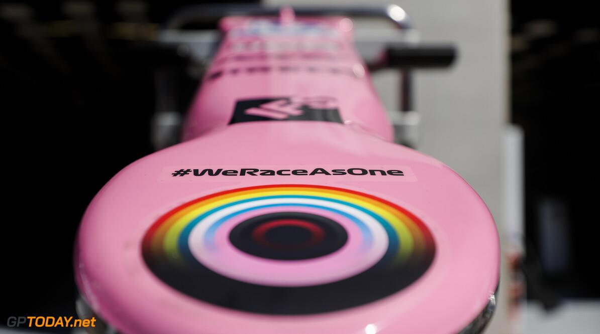 We Race As One Logo on the Racing Point RP20   Glenn Dunbar Spielberg Austria