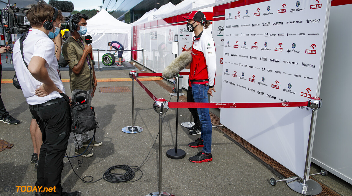 GIOVINAZZI Antonio (ita), Alfa Romeo Racing ORLEN C39, portrait interview with the medias during the Formula 1 Rolex Grosser Preis von Osterreich 2020, Austrian Grand Prix from July 02 to 05, 2020 on the Red Bull Ring, in Spielberg, Austria - Photo Florent Gooden / DPPI F1 - AUSTRIAN GRAND PRIX 2020