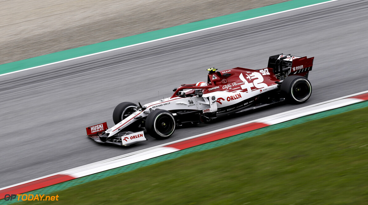 99 GIOVINAZZI Antonio (ita), Alfa Romeo Racing ORLEN C39, action during the Formula 1 Rolex Grosser Preis von Osterreich 2020, Austrian Grand Prix from July 02 to 05, 2020 on the Red Bull Ring, in Spielberg, Austria - Photo DPPI  F1 - AUSTRIAN GRAND PRIX 2020  DPPI Spielberg Austria  Autriche Austria Red Bull Ring Spielberg Grand Prix Europe mars Formula 1 F1 Formule 1 Formule Un motor racing Motorsport 2020