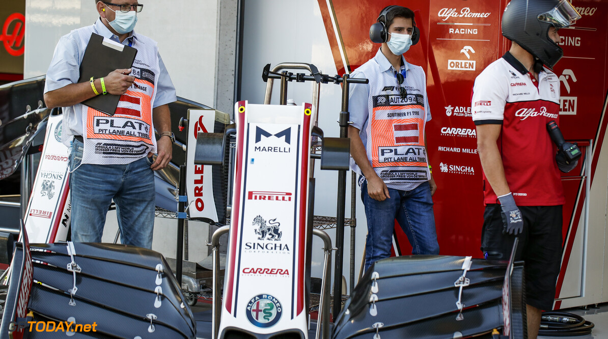 Alfa Romeo Racing ORLEN Team, ambiance scrutineers during the Formula 1 Rolex Grosser Preis von Osterreich 2020, Austrian Grand Prix from July 02 to 05, 2020 on the Red Bull Ring, in Spielberg, Austria - Photo Florent Gooden / DPPI F1 - AUSTRIAN GRAND PRIX 2020