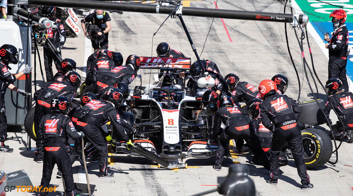 Haas was nursing its brakes from lap one - Grosjean