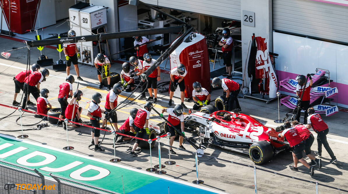 07 RAIKKONEN Kimi (fin), Alfa Romeo Racing ORLEN C39, action pitstop practice during the Formula 1 Pirelli Grosser Preis der Steiermark 2020, Styrian Grand Prix from July 10 to 12, 2020 on the Red Bull Ring, in Spielberg, Austria - Photo Antonin Vincent / DPPI F1 - STYRIAN GRAND PRIX 2020  Antonin Vincent    2020 Austria Autriche Red Bull Ring Spielberg Styrian Styrie europe f1 formula 1 formule 1 formule un grand prix motor racing motorsport