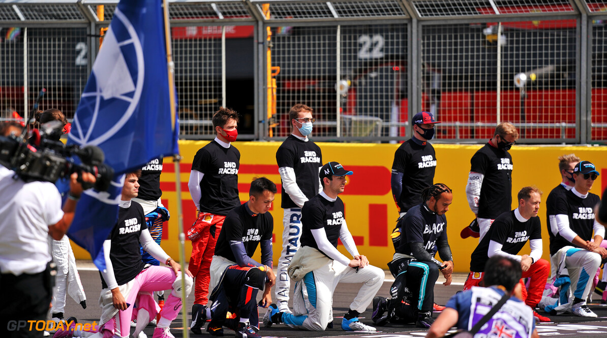 Hamilton hails F1's 'organised' anti-racism stance at Silverstone