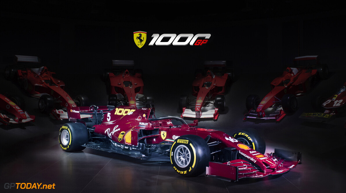 Ferrari toont speciale kleurstelling voor jubileum GP