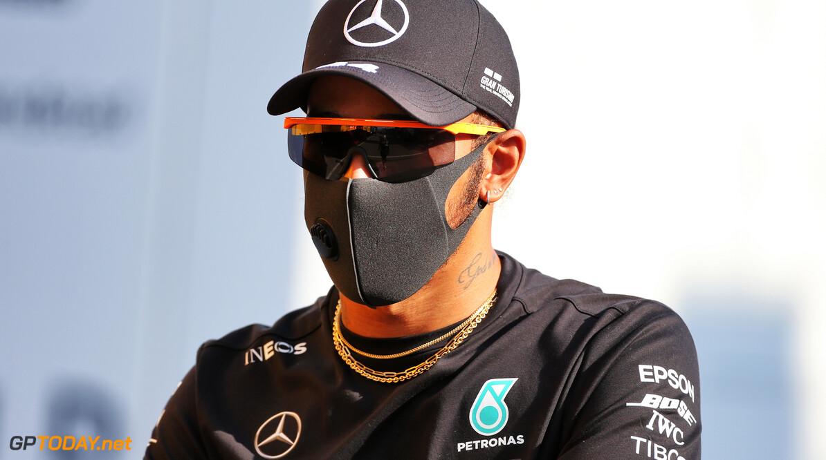 Hamilton was 'definitely worried' about front brake smoking during Mugello restart