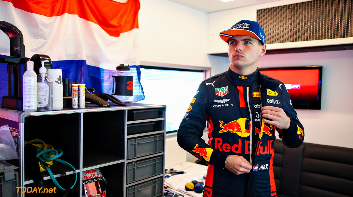 NUERBURG, GERMANY - OCTOBER 10: Max Verstappen of Netherlands and Red Bull Racing prepares to drive before final practice ahead of the F1 Eifel Grand Prix at Nuerburgring on October 10, 2020 in Nuerburg, Germany. (Photo by Mark Thompson/Getty Images) // Getty Images / Red Bull Content Pool  // SI202010100020 // Usage for editorial use only //  F1 Eifel Grand Prix - Final Practice     SI202010100020