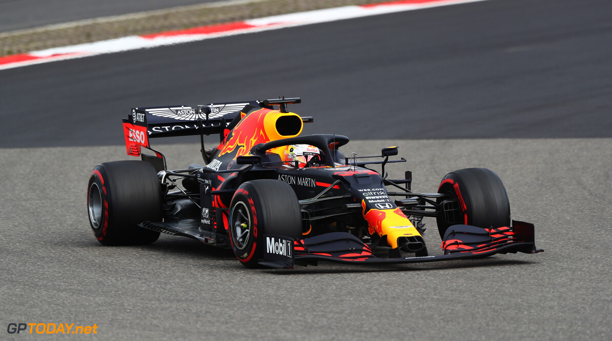 NUERBURG, GERMANY - OCTOBER 10: Max Verstappen of the Netherlands driving the (33) Aston Martin Red Bull Racing RB16 on track during final practice ahead of the F1 Eifel Grand Prix at Nuerburgring on October 10, 2020 in Nuerburg, Germany. (Photo by Matthias Schrader - Pool/Getty Images) // Getty Images / Red Bull Content Pool  // SI202010100094 // Usage for editorial use only //  F1 Eifel Grand Prix - Final Practice     SI202010100094