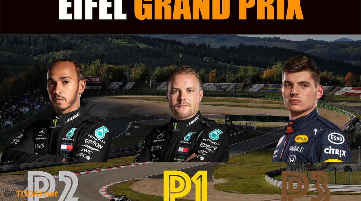 Eifel GP: Max Verstappen drijft Mercedes tot het uiterste, Valtteri Bottas pakt pole