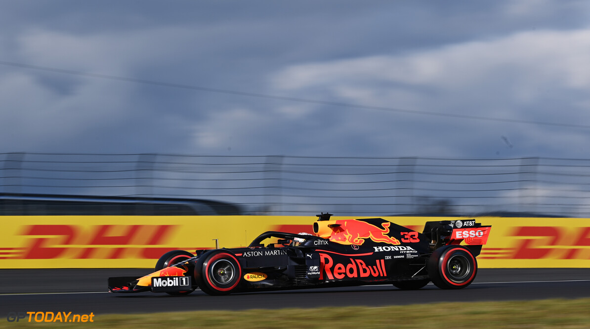 NUERBURG, GERMANY - OCTOBER 10: Max Verstappen of the Netherlands driving the (33) Aston Martin Red Bull Racing RB16 on track during qualifying ahead of the F1 Eifel Grand Prix at Nuerburgring on October 10, 2020 in Nuerburg, Germany. (Photo by Ina Fassbender - Pool/Getty Images) // Getty Images / Red Bull Content Pool  // SI202010100267 // Usage for editorial use only //  F1 Eifel Grand Prix - Qualifying     SI202010100267