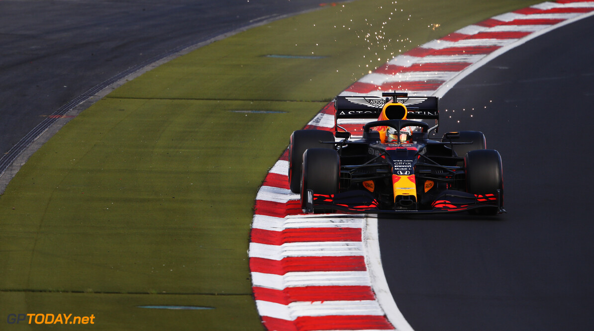 NUERBURG, GERMANY - OCTOBER 10: Max Verstappen of the Netherlands driving the (33) Aston Martin Red Bull Racing RB16 on track during qualifying ahead of the F1 Eifel Grand Prix at Nuerburgring on October 10, 2020 in Nuerburg, Germany. (Photo by Bryn Lennon/Getty Images) // Getty Images / Red Bull Content Pool  // SI202010100281 // Usage for editorial use only //  F1 Eifel Grand Prix - Qualifying     SI202010100281