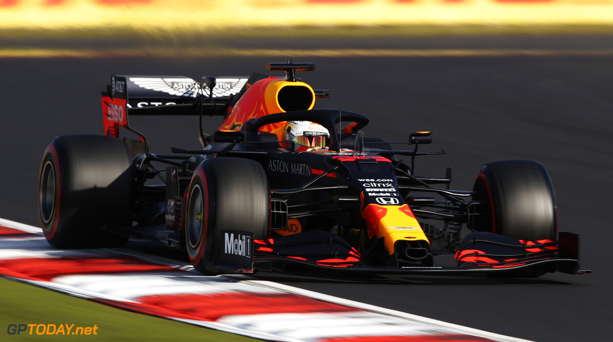 NUERBURG, GERMANY - OCTOBER 10: Max Verstappen of the Netherlands driving the (33) Aston Martin Red Bull Racing RB16 on track during qualifying ahead of the F1 Eifel Grand Prix at Nuerburgring on October 10, 2020 in Nuerburg, Germany. (Photo by Bryn Lennon/Getty Images) // Getty Images / Red Bull Content Pool  // SI202010100385 // Usage for editorial use only //  F1 Eifel Grand Prix - Qualifying     SI202010100385