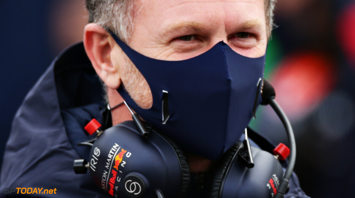 NUERBURG, GERMANY - OCTOBER 11: Red Bull Racing Team Principal Christian Horner looks on from the grid before the F1 Eifel Grand Prix at Nuerburgring on October 11, 2020 in Nuerburg, Germany. (Photo by Peter Fox/Getty Images) // Getty Images / Red Bull Content Pool  // SI202010110147 // Usage for editorial use only //  F1 Eifel Grand Prix     SI202010110147