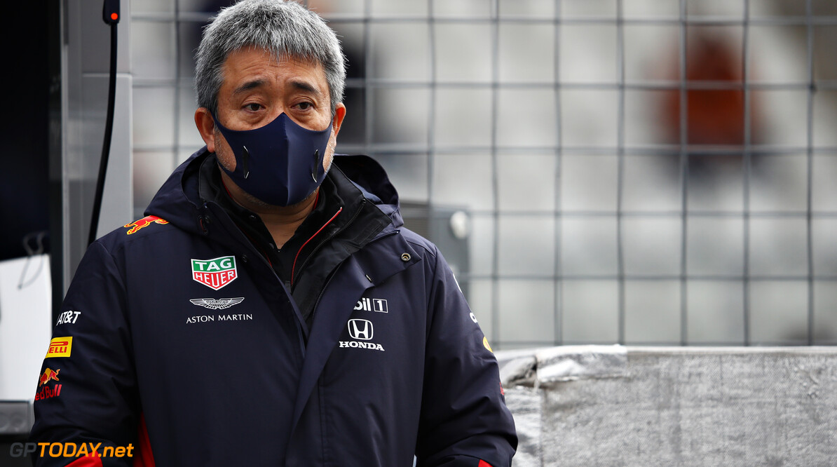 NUERBURG, GERMANY - OCTOBER 11: Masashi Yamamoto of Honda looks on from the Red Bull Racing pitwall before the F1 Eifel Grand Prix at Nuerburgring on October 11, 2020 in Nuerburg, Germany. (Photo by Mark Thompson/Getty Images) // Getty Images / Red Bull Content Pool  // SI202010110140 // Usage for editorial use only //  F1 Eifel Grand Prix     SI202010110140