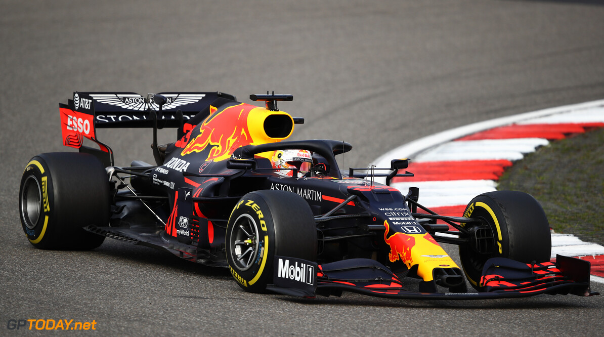 NUERBURG, GERMANY - OCTOBER 11: Max Verstappen of the Netherlands driving the (33) Aston Martin Red Bull Racing RB16 on track during the F1 Eifel Grand Prix at Nuerburgring on October 11, 2020 in Nuerburg, Germany. (Photo by Bryn Lennon/Getty Images) // Getty Images / Red Bull Content Pool  // SI202010110247 // Usage for editorial use only //  F1 Eifel Grand Prix     SI202010110247