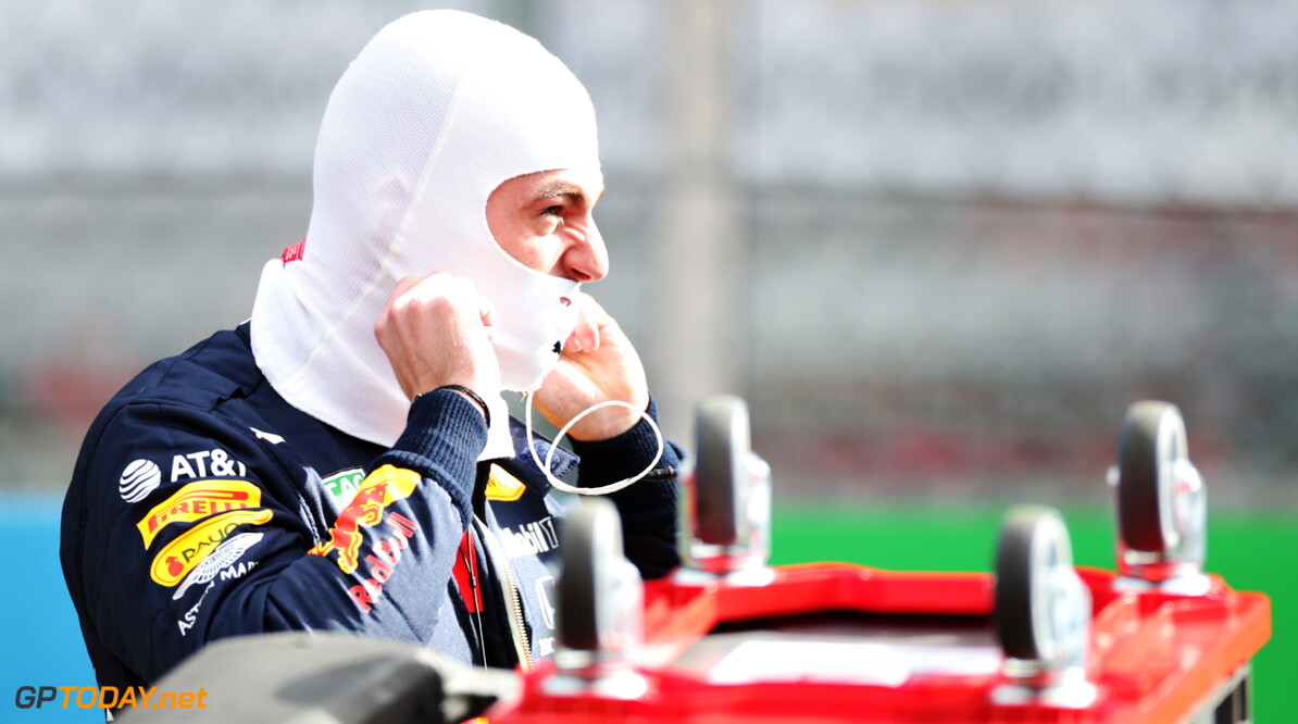 NUERBURG, GERMANY - OCTOBER 11: Max Verstappen of Netherlands and Red Bull Racing prepares to drive on the grid before the F1 Eifel Grand Prix at Nuerburgring on October 11, 2020 in Nuerburg, Germany. (Photo by Peter Fox/Getty Images) // Getty Images / Red Bull Content Pool  // SI202010110166 // Usage for editorial use only //  F1 Eifel Grand Prix     SI202010110166
