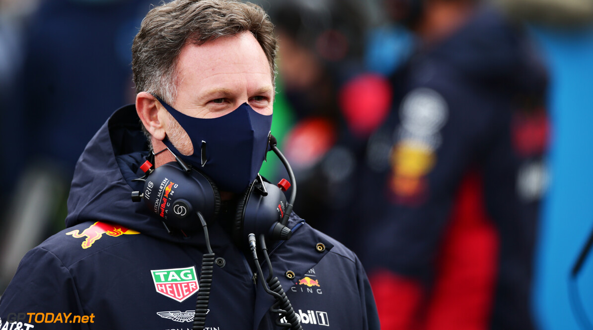 NUERBURG, GERMANY - OCTOBER 11: Red Bull Racing Team Principal Christian Horner looks on, on the grid before the F1 Eifel Grand Prix at Nuerburgring on October 11, 2020 in Nuerburg, Germany. (Photo by Peter Fox/Getty Images) // Getty Images / Red Bull Content Pool  // SI202010110328 // Usage for editorial use only //  F1 Eifel Grand Prix     SI202010110328
