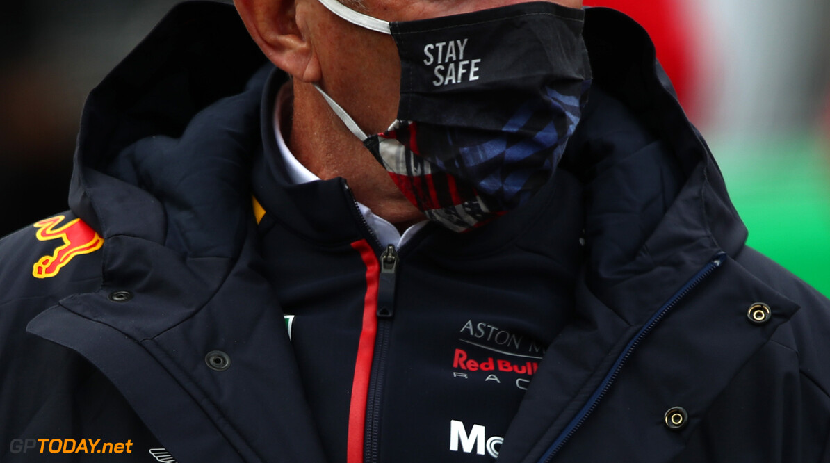 NUERBURG, GERMANY - OCTOBER 11: Red Bull Racing Team Consultant Dr Helmut Marko looks on before the F1 Eifel Grand Prix at Nuerburgring on October 11, 2020 in Nuerburg, Germany. (Photo by Joe Portlock/Getty Images) // Getty Images / Red Bull Content Pool  // SI202010110556 // Usage for editorial use only //  F1 Eifel Grand Prix     SI202010110556