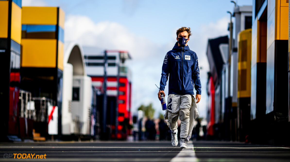 NUERBURG, GERMANY - OCTOBER 10: Pierre Gasly of Scuderia AlphaTauri and France  during Final Practice ahead of the F1 Eifel Grand Prix at Nuerburgring on October 10, 2020 in Nuerburg, Germany. (Photo by Peter Fox/Getty Images) // Getty Images / Red Bull Content Pool  // SI202010100452 // Usage for editorial use only //  F1 Eifel Grand Prix - Final Practice     SI202010100452