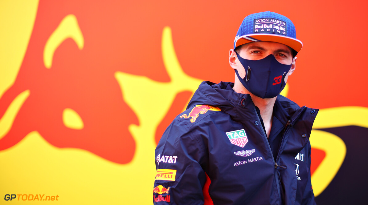 PORTIMAO, PORTUGAL - OCTOBER 22: Max Verstappen of Netherlands and Red Bull Racing looks on in the Paddock during previews ahead of the F1 Grand Prix of Portugal at Autodromo Internacional do Algarve on October 22, 2020 in Portimao, Portugal. (Photo by Mark Thompson/Getty Images) // Getty Images / Red Bull Content Pool  // SI202010220289 // Usage for editorial use only //  F1 Grand Prix of Portugal - Previews     SI202010220289
