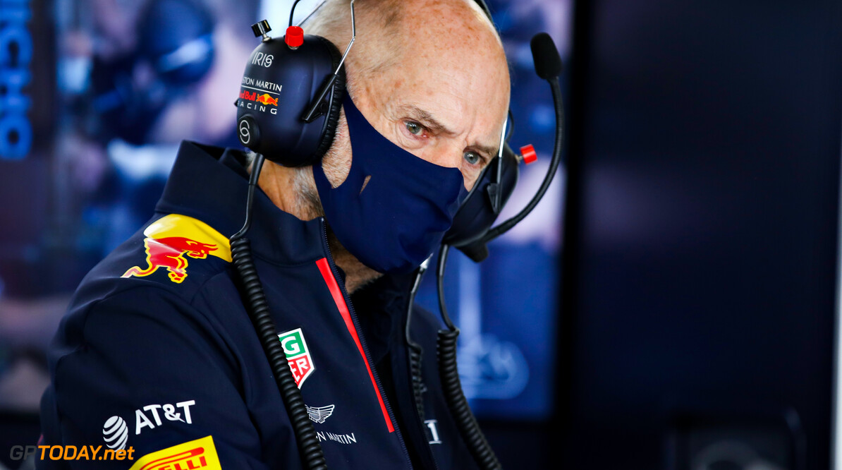 PORTIMAO, PORTUGAL - OCTOBER 23: Adrian Newey, the Chief Technical Officer of Red Bull Racing looks on in the garage during practice ahead of the F1 Grand Prix of Portugal at Autodromo Internacional do Algarve on October 23, 2020 in Portimao, Portugal. (Photo by Mark Thompson/Getty Images) // Getty Images / Red Bull Content Pool  // SI202010230091 // Usage for editorial use only //  F1 Grand Prix of Portugal - Practice     SI202010230091