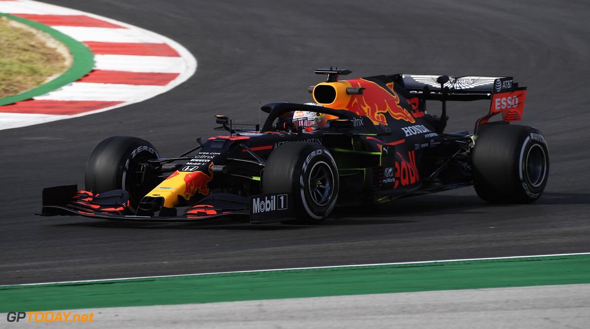 PORTIMAO, PORTUGAL - OCTOBER 23: Max Verstappen of the Netherlands driving the (33) Aston Martin Red Bull Racing RB16 on track during practice ahead of the F1 Grand Prix of Portugal at Autodromo Internacional do Algarve on October 23, 2020 in Portimao, Portugal. (Photo by Jorge Guerrero - Pool/Getty Images) // Getty Images / Red Bull Content Pool  // SI202010230078 // Usage for editorial use only //  F1 Grand Prix of Portugal - Practice     SI202010230078