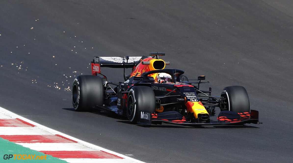 PORTIMAO, PORTUGAL - OCTOBER 23: Max Verstappen of the Netherlands driving the (33) Aston Martin Red Bull Racing RB16 on track during practice ahead of the F1 Grand Prix of Portugal at Autodromo Internacional do Algarve on October 23, 2020 in Portimao, Portugal. (Photo by Armando Franca - Pool/Getty Images) // Getty Images / Red Bull Content Pool  // SI202010230171 // Usage for editorial use only //  F1 Grand Prix of Portugal - Practice     SI202010230171