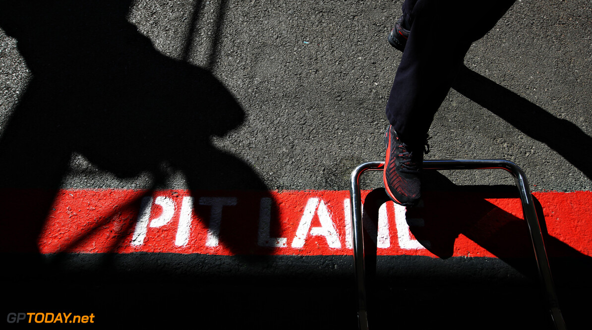 PORTIMAO, PORTUGAL - OCTOBER 23: A detail view of pitlane markings outside the Red Bull Racing garage during practice ahead of the F1 Grand Prix of Portugal at Autodromo Internacional do Algarve on October 23, 2020 in Portimao, Portugal. (Photo by Mark Thompson/Getty Images) // Getty Images / Red Bull Content Pool  // SI202010230226 // Usage for editorial use only //  F1 Grand Prix of Portugal - Practice     SI202010230226