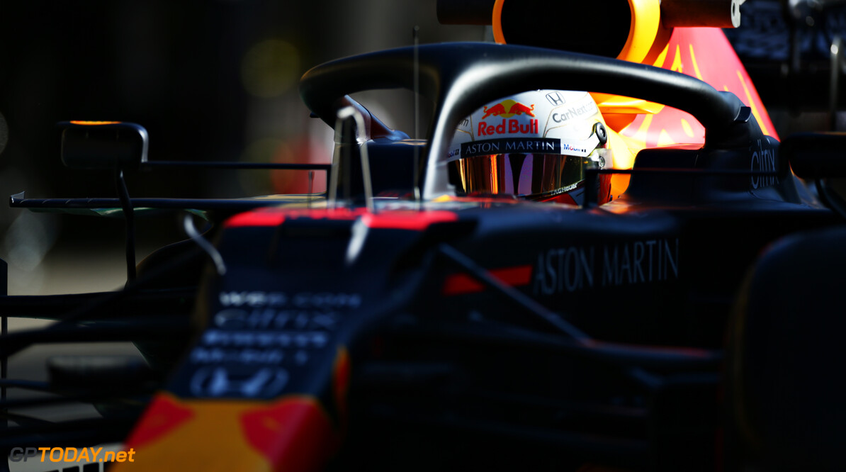 PORTIMAO, PORTUGAL - OCTOBER 23: Max Verstappen of the Netherlands driving the (33) Aston Martin Red Bull Racing RB16 in the Pitlane during practice ahead of the F1 Grand Prix of Portugal at Autodromo Internacional do Algarve on October 23, 2020 in Portimao, Portugal. (Photo by Peter Fox/Getty Images) // Getty Images / Red Bull Content Pool  // SI202010230315 // Usage for editorial use only //  F1 Grand Prix of Portugal - Practice     SI202010230315