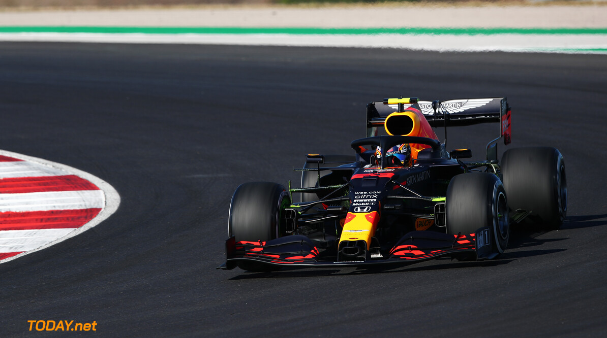 PORTIMAO, PORTUGAL - OCTOBER 24: Alexander Albon of Thailand driving the (23) Aston Martin Red Bull Racing RB16 on track during final practice ahead of the F1 Grand Prix of Portugal at Autodromo Internacional do Algarve on October 24, 2020 in Portimao, Portugal. (Photo by Joe Portlock/Getty Images) // Getty Images / Red Bull Content Pool  // SI202010240086 // Usage for editorial use only //  F1 Grand Prix of Portugal - Final Practice     SI202010240086