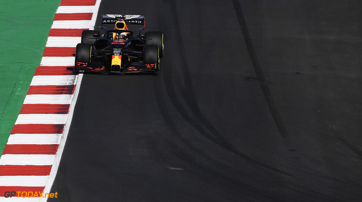 PORTIMAO, PORTUGAL - OCTOBER 24: Max Verstappen of the Netherlands driving the (33) Aston Martin Red Bull Racing RB16 on track during final practice ahead of the F1 Grand Prix of Portugal at Autodromo Internacional do Algarve on October 24, 2020 in Portimao, Portugal. (Photo by Jorge Guerrero - Pool/Getty Images) // Getty Images / Red Bull Content Pool  // SI202010240090 // Usage for editorial use only //  F1 Grand Prix of Portugal - Final Practice     SI202010240090