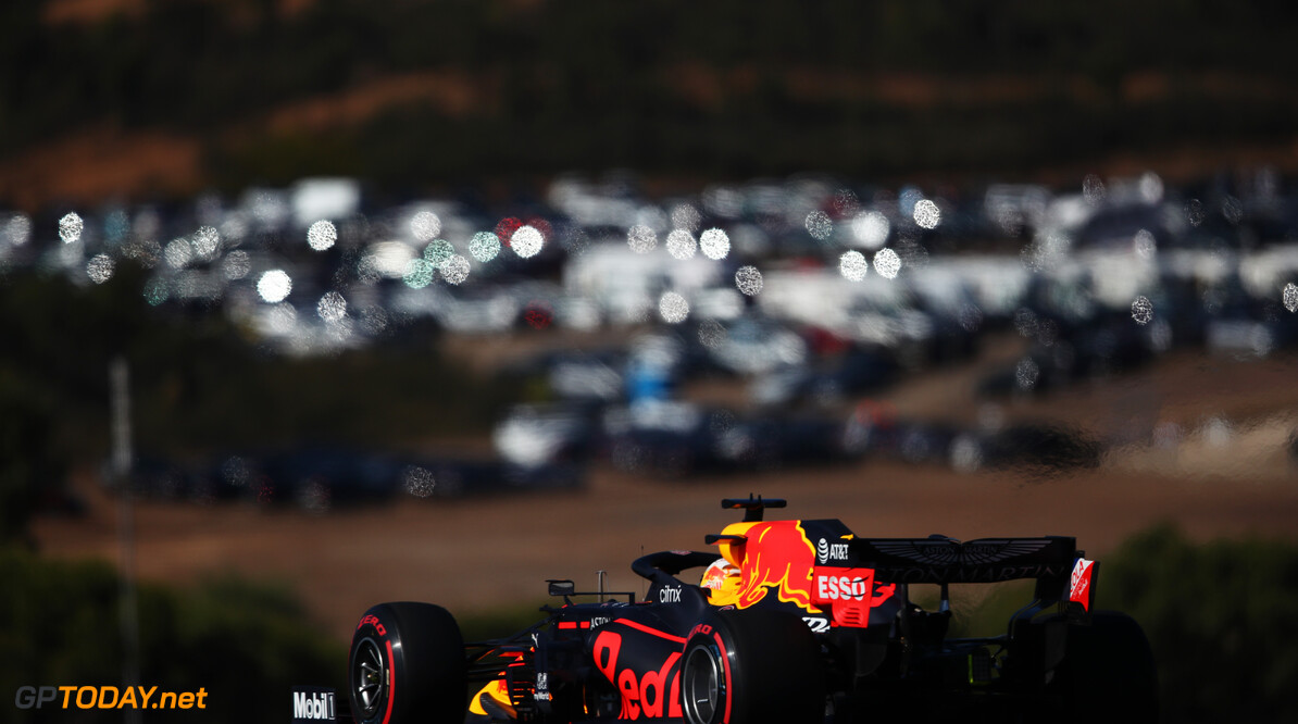 PORTIMAO, PORTUGAL - OCTOBER 24: Max Verstappen of the Netherlands driving the (33) Aston Martin Red Bull Racing RB16 on track during final practice ahead of the F1 Grand Prix of Portugal at Autodromo Internacional do Algarve on October 24, 2020 in Portimao, Portugal. (Photo by Joe Portlock/Getty Images) // Getty Images / Red Bull Content Pool  // SI202010240114 // Usage for editorial use only //  F1 Grand Prix of Portugal - Final Practice     SI202010240114