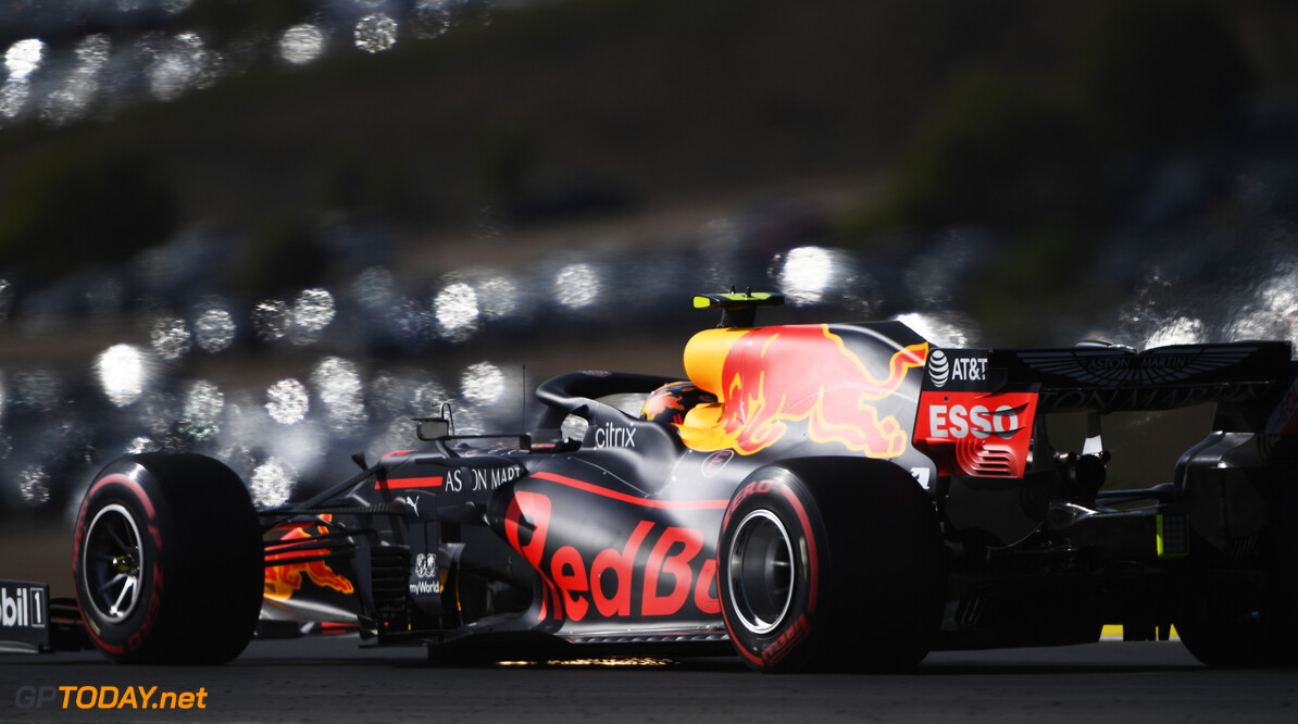 PORTIMAO, PORTUGAL - OCTOBER 24: Alexander Albon of Thailand driving the (23) Aston Martin Red Bull Racing RB16 on track during qualifying ahead of the F1 Grand Prix of Portugal at Autodromo Internacional do Algarve on October 24, 2020 in Portimao, Portugal. (Photo by Rudy Carezzevoli/Getty Images) // Getty Images / Red Bull Content Pool  // SI202010240283 // Usage for editorial use only //  F1 Grand Prix of Portugal - Qualifying     SI202010240283