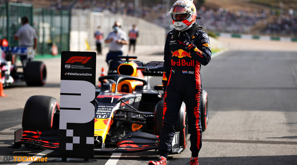 PORTIMAO, PORTUGAL - OCTOBER 24: Third place qualifier Max Verstappen of Netherlands and Red Bull Racing walks from his car in parc ferme during qualifying ahead of the F1 Grand Prix of Portugal at Autodromo Internacional do Algarve on October 24, 2020 in Portimao, Portugal. (Photo by Mark Thompson/Getty Images) // Getty Images / Red Bull Content Pool  // SI202010240292 // Usage for editorial use only //  F1 Grand Prix of Portugal - Qualifying     SI202010240292