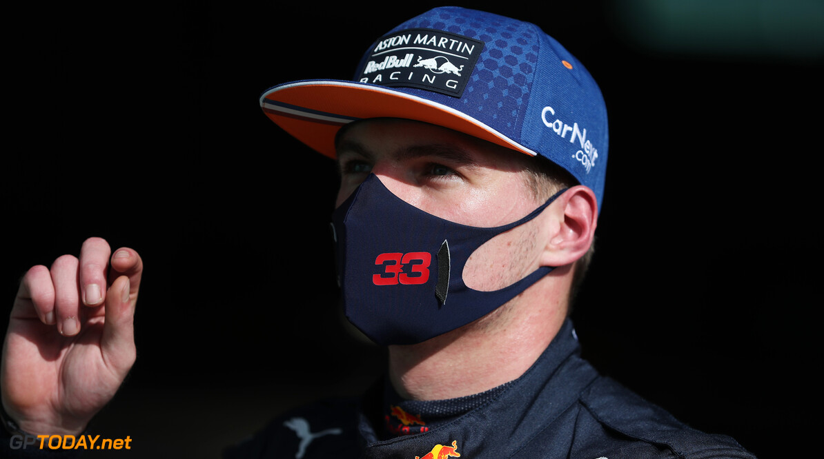 PORTIMAO, PORTUGAL - OCTOBER 24: Third placed qualifier Max Verstappen of Netherlands and Red Bull Racing looks on in parc ferme during qualifying ahead of the F1 Grand Prix of Portugal at Autodromo Internacional do Algarve on October 24, 2020 in Portimao, Portugal. (Photo by Jose Sena Goulao - Pool/Getty Images) // Getty Images / Red Bull Content Pool  // SI202010240293 // Usage for editorial use only //  F1 Grand Prix of Portugal - Qualifying     SI202010240293