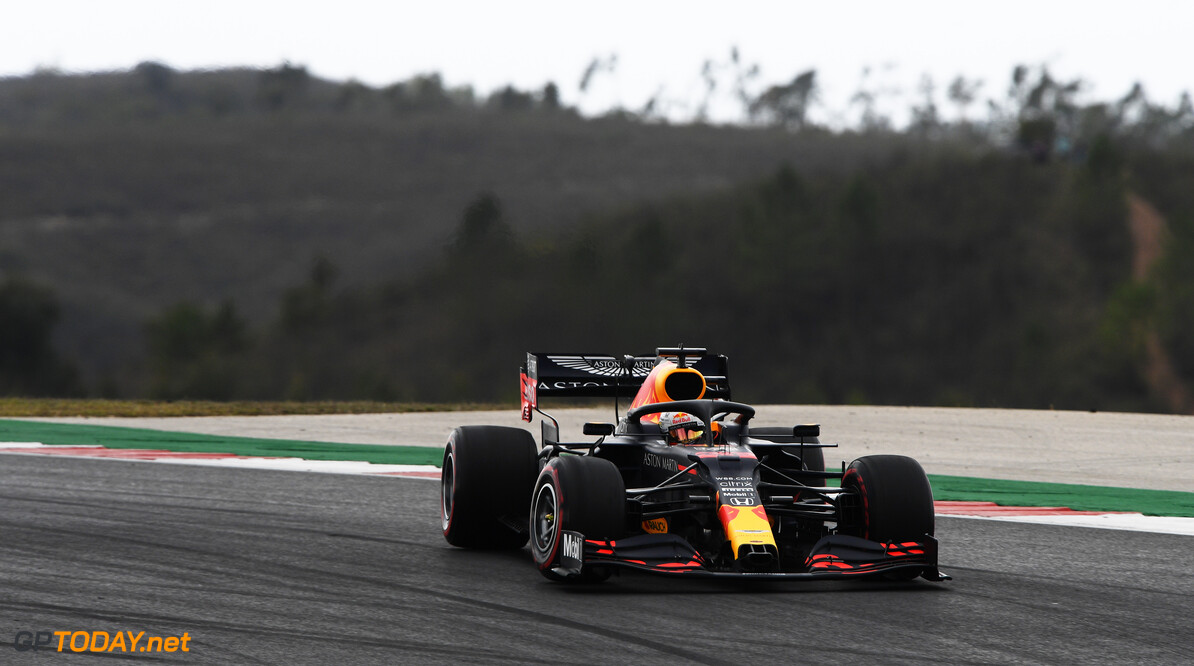 PORTIMAO, PORTUGAL - OCTOBER 25: Max Verstappen of the Netherlands driving the (33) Aston Martin Red Bull Racing RB16 on track during the F1 Grand Prix of Portugal at Autodromo Internacional do Algarve on October 25, 2020 in Portimao, Portugal. (Photo by Rudy Carezzevoli/Getty Images) // Getty Images / Red Bull Content Pool  // SI202010250094 // Usage for editorial use only //  F1 Grand Prix of Portugal     SI202010250094