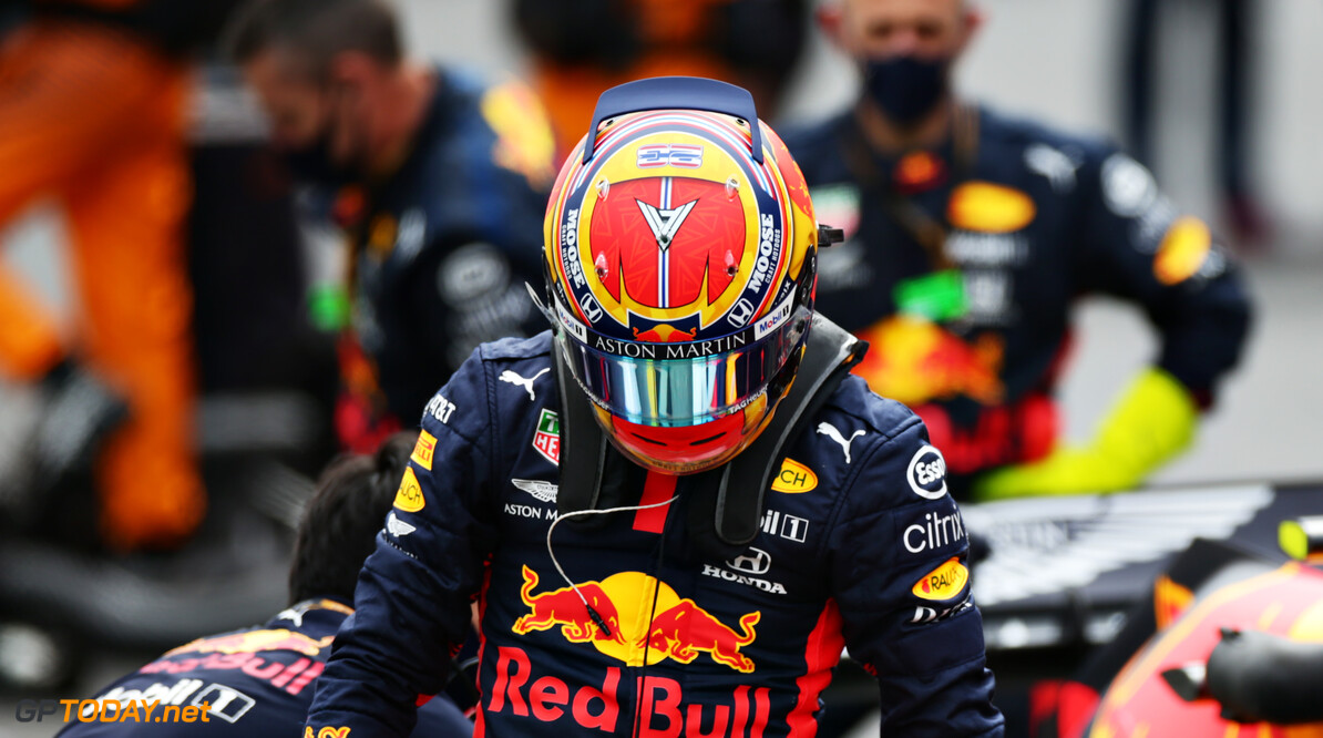PORTIMAO, PORTUGAL - OCTOBER 25: Alexander Albon of Thailand and Red Bull Racing prepares to drive on the grid before the F1 Grand Prix of Portugal at Autodromo Internacional do Algarve on October 25, 2020 in Portimao, Portugal. (Photo by Peter Fox/Getty Images) // Getty Images / Red Bull Content Pool  // SI202010250102 // Usage for editorial use only //  F1 Grand Prix of Portugal     SI202010250102