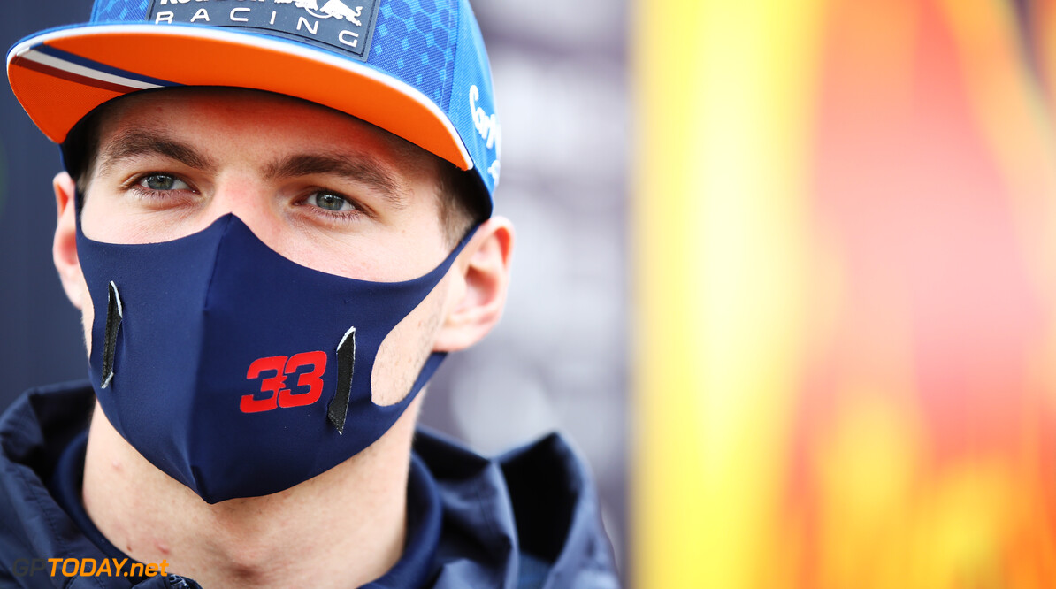 PORTIMAO, PORTUGAL - OCTOBER 25: Max Verstappen of Netherlands and Red Bull Racing looks on in the Paddock ahead of the F1 Grand Prix of Portugal at Autodromo Internacional do Algarve on October 25, 2020 in Portimao, Portugal. (Photo by Mark Thompson/Getty Images) // Getty Images / Red Bull Content Pool  // SI202010250060 // Usage for editorial use only //  F1 Grand Prix of Portugal     SI202010250060