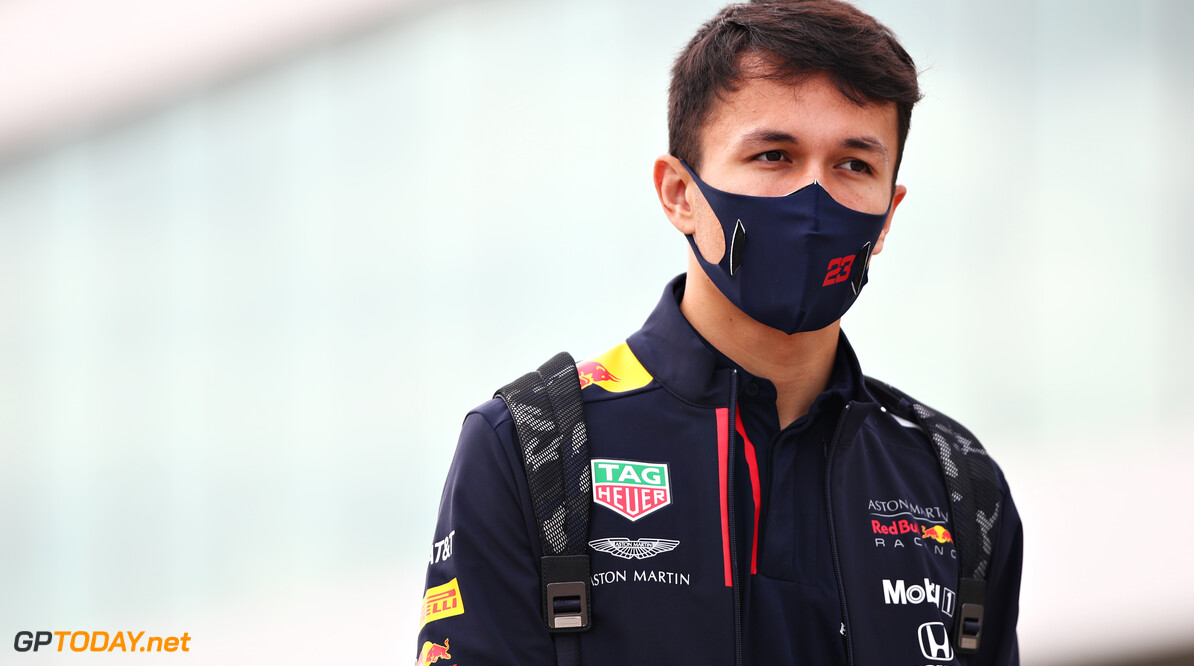 PORTIMAO, PORTUGAL - OCTOBER 25: Alexander Albon of Thailand and Red Bull Racing walks in the Paddock before the F1 Grand Prix of Portugal at Autodromo Internacional do Algarve on October 25, 2020 in Portimao, Portugal. (Photo by Joe Portlock/Getty Images) // Getty Images / Red Bull Content Pool  // SI202010250055 // Usage for editorial use only //  F1 Grand Prix of Portugal     SI202010250055