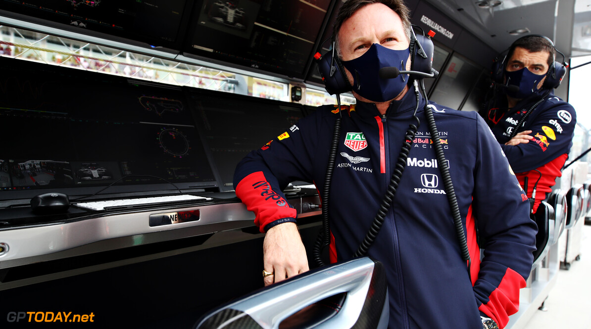 PORTIMAO, PORTUGAL - OCTOBER 25: Red Bull Racing Team Principal Christian Horner looks on before the F1 Grand Prix of Portugal at Autodromo Internacional do Algarve on October 25, 2020 in Portimao, Portugal. (Photo by Mark Thompson/Getty Images) // Getty Images / Red Bull Content Pool  // SI202010250407 // Usage for editorial use only //  F1 Grand Prix of Portugal     SI202010250407