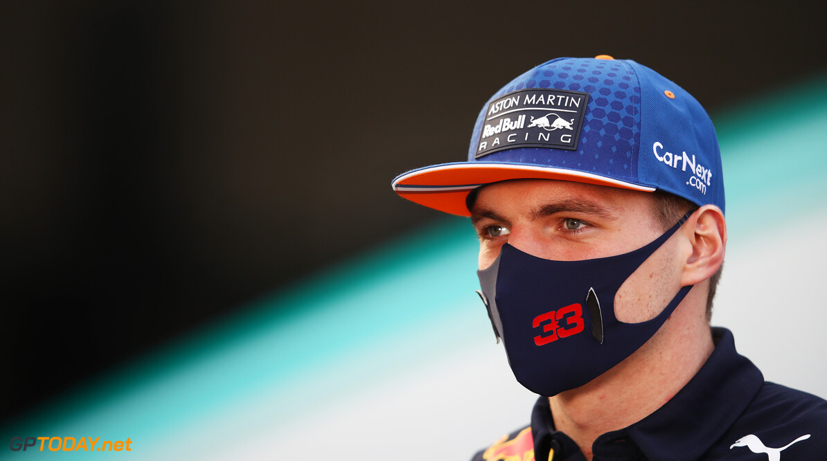 IMOLA, ITALY - OCTOBER 30: Max Verstappen of Netherlands and Red Bull Racing talks to the media in the Paddock during previews ahead of the F1 Grand Prix of Emilia Romagna at Autodromo Enzo e Dino Ferrari on October 30, 2020 in Imola, Italy. (Photo by Mark Thompson/Getty Images) // Getty Images / Red Bull Content Pool  // SI202010300589 // Usage for editorial use only //  F1 Grand Prix of Emilia Romagna - Previews     SI202010300589