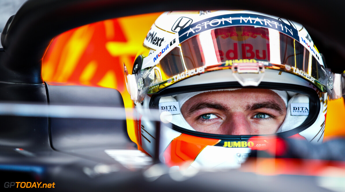 IMOLA, ITALY - OCTOBER 31: Max Verstappen of Netherlands and Red Bull Racing prepares to drive in the garage during practice ahead of the F1 Grand Prix of Emilia Romagna at Autodromo Enzo e Dino Ferrari on October 31, 2020 in Imola, Italy. (Photo by Mark Thompson/Getty Images) // Getty Images / Red Bull Content Pool  // SI202010310142 // Usage for editorial use only //  F1 Grand Prix of Emilia Romagna - Practice & Qualifying     SI202010310142