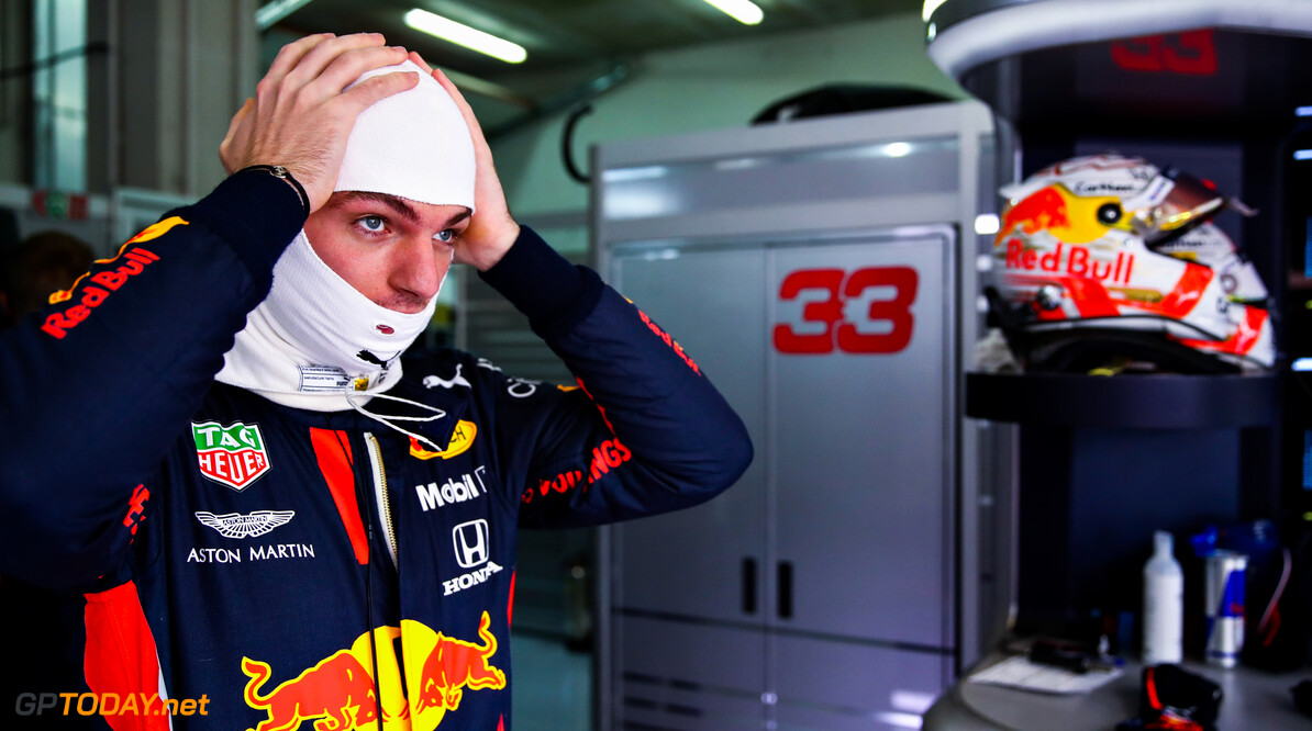 IMOLA, ITALY - OCTOBER 31: Max Verstappen of Netherlands and Red Bull Racing prepares to drive in the garage during practice ahead of the F1 Grand Prix of Emilia Romagna at Autodromo Enzo e Dino Ferrari on October 31, 2020 in Imola, Italy. (Photo by Mark Thompson/Getty Images) // Getty Images / Red Bull Content Pool  // SI202010310347 // Usage for editorial use only //  F1 Grand Prix of Emilia Romagna - Practice & Qualifying     SI202010310347