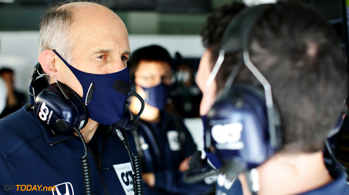IMOLA, ITALY - OCTOBER 31: Scuderia AlphaTauri Team Principal Franz Tost talks in the garage during qualifying ahead of the F1 Grand Prix of Emilia Romagna at Autodromo Enzo e Dino Ferrari on October 31, 2020 in Imola, Italy. (Photo by Peter Fox/Getty Images) // Getty Images / Red Bull Content Pool  // SI202010310349 // Usage for editorial use only //  F1 Grand Prix of Emilia Romagna - Practice & Qualifying     SI202010310349