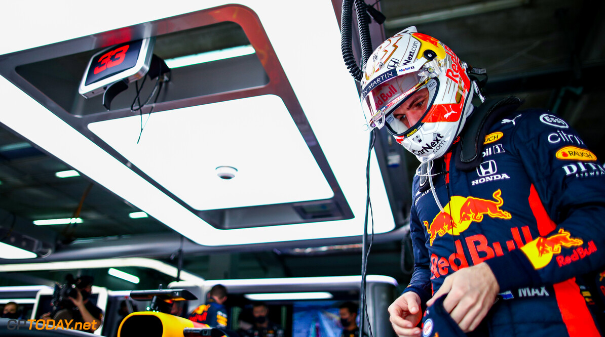 IMOLA, ITALY - NOVEMBER 01: Max Verstappen of Netherlands and Red Bull Racing prepares to drive in the garage before the F1 Grand Prix of Emilia Romagna at Autodromo Enzo e Dino Ferrari on November 01, 2020 in Imola, Italy. (Photo by Mark Thompson/Getty Images) // Getty Images / Red Bull Content Pool  // SI202011010075 // Usage for editorial use only //  F1 Grand Prix of Emilia Romagna     SI202011010075