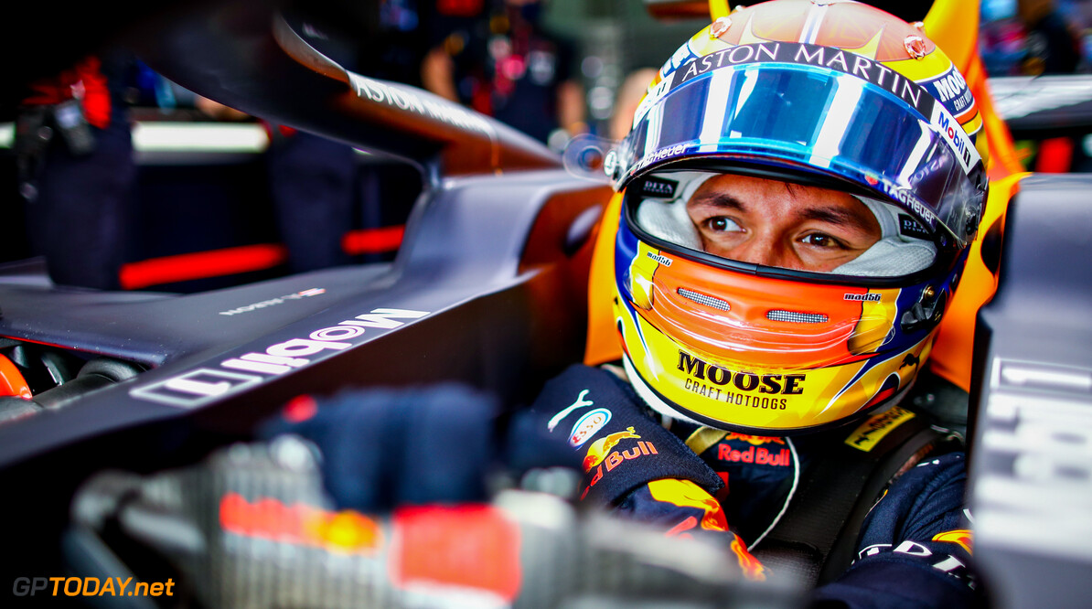 IMOLA, ITALY - NOVEMBER 01: Alexander Albon of Thailand and Red Bull Racing prepares to drive in the garage before the F1 Grand Prix of Emilia Romagna at Autodromo Enzo e Dino Ferrari on November 01, 2020 in Imola, Italy. (Photo by Mark Thompson/Getty Images) // Getty Images / Red Bull Content Pool  // SI202011010074 // Usage for editorial use only //  F1 Grand Prix of Emilia Romagna     SI202011010074