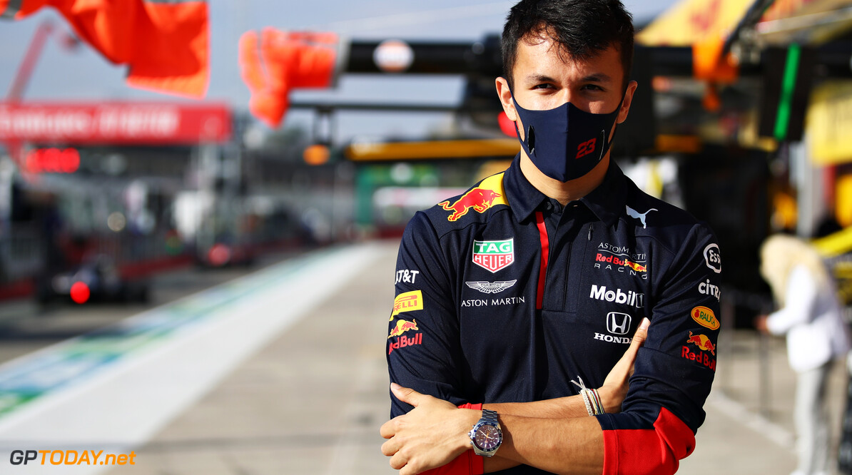IMOLA, ITALY - NOVEMBER 01: Alexander Albon of Thailand and Red Bull Racing looks on in the Pitlane before the F1 Grand Prix of Emilia Romagna at Autodromo Enzo e Dino Ferrari on November 01, 2020 in Imola, Italy. (Photo by Mark Thompson/Getty Images) // Getty Images / Red Bull Content Pool  // SI202011010056 // Usage for editorial use only //  F1 Grand Prix of Emilia Romagna     SI202011010056