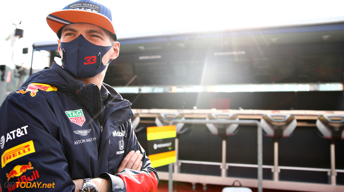 IMOLA, ITALY - NOVEMBER 01: Max Verstappen of Netherlands and Red Bull Racing looks on in the Pitlane before the F1 Grand Prix of Emilia Romagna at Autodromo Enzo e Dino Ferrari on November 01, 2020 in Imola, Italy. (Photo by Mark Thompson/Getty Images) // Getty Images / Red Bull Content Pool  // SI202011010043 // Usage for editorial use only //  F1 Grand Prix of Emilia Romagna     SI202011010043
