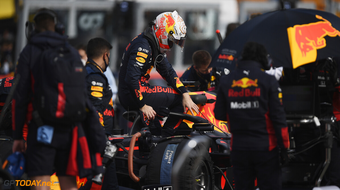 IMOLA, ITALY - NOVEMBER 01: Max Verstappen of Netherlands and Red Bull Racing prepares to drive on the grid before during the F1 Grand Prix of Emilia Romagna at Autodromo Enzo e Dino Ferrari on November 01, 2020 in Imola, Italy. (Photo by Rudy Carezzevoli/Getty Images) // Getty Images / Red Bull Content Pool  // SI202011010118 // Usage for editorial use only //  F1 Grand Prix of Emilia Romagna     SI202011010118