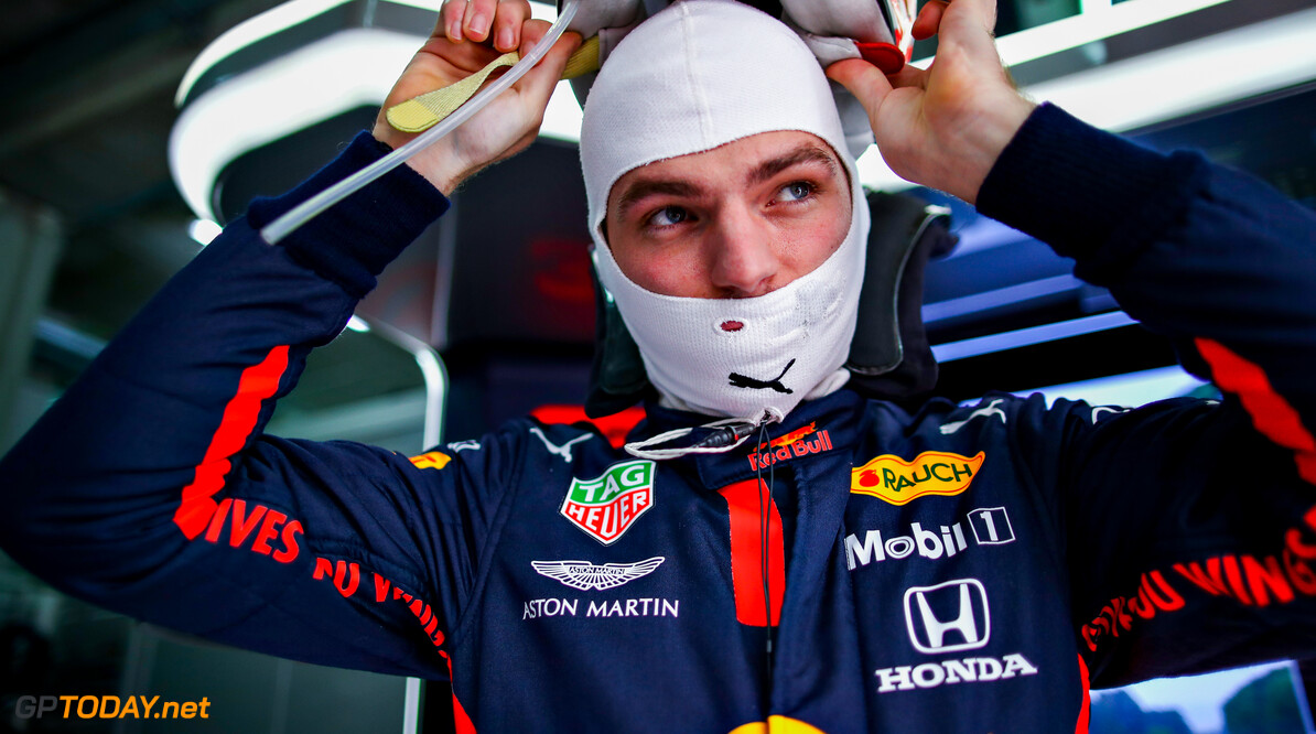 IMOLA, ITALY - NOVEMBER 01: Max Verstappen of Netherlands and Red Bull Racing prepares to drive in the garage before the F1 Grand Prix of Emilia Romagna at Autodromo Enzo e Dino Ferrari on November 01, 2020 in Imola, Italy. (Photo by Mark Thompson/Getty Images) // Getty Images / Red Bull Content Pool  // SI202011010279 // Usage for editorial use only //  F1 Grand Prix of Emilia Romagna     SI202011010279