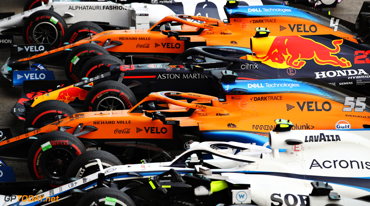 IMOLA, ITALY - NOVEMBER 01: A general view of parc ferme showing the car of Alexander Albon of Thailand and Red Bull Racing after the F1 Grand Prix of Emilia Romagna at Autodromo Enzo e Dino Ferrari on November 01, 2020 in Imola, Italy. (Photo by Mark Thompson/Getty Images) // Getty Images / Red Bull Content Pool  // SI202011010303 // Usage for editorial use only //  F1 Grand Prix of Emilia Romagna     SI202011010303